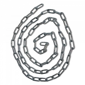 LITEC 1m GALVANIZED CHAIN 8x24mm