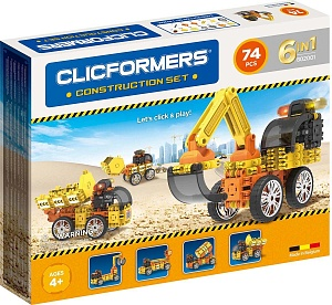КОНСТРУКТОР CLICFORMERS CONSTRUCTION SET (74 ДЕТАЛИ) 5+